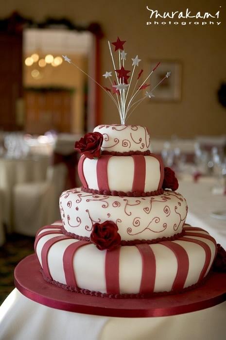 Nana\'s blog: Small Winter Wedding Cake A two tier pure white wedding ...